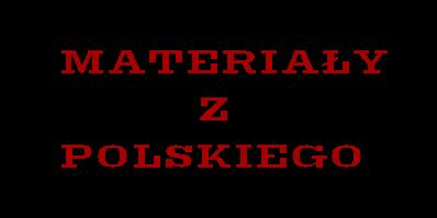 Materiały na polski